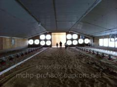 Design of systems of a microclimate for poultry farming, installation of equipmen