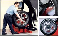 Tyre, balancing, repair of roads and trucks wheels