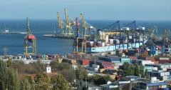 Expedieren im Hafen