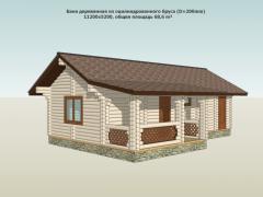 Бани деревянные по индивидуальному проекту