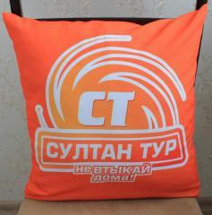 Декоративные подушки с логотипом,  подушечки