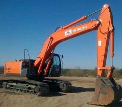 Rental of excavators