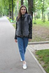 Кожаная куртка трансформер с чернобуркой