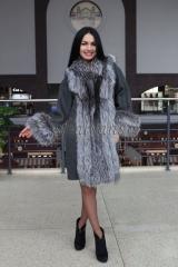 Пальто из альпаки с чернобуркой