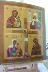 Распятие с иконами Пресв.Богородицы