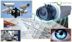 Монтаж систем видеонаблюдения Hikvision и Dahua.