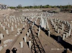 Строительство фундаментов под зернохранилища