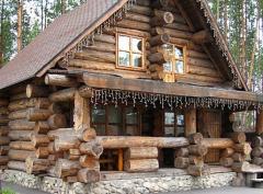 Construcción de casas de armazones de madera silvestre