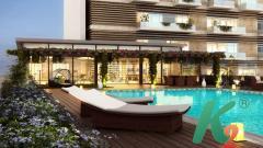 3D дизайн ванной комнаты, бассейна, визуализация интерьера