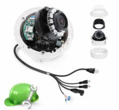 Установка внутренней видеокамеры (IP, аналоговая, HDCVI) до 2.8 метров