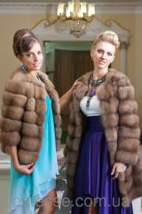 Custom tailoring of fur coats from a sable, a chinchilla, a mink, a marten, a broadtail, fur products to order