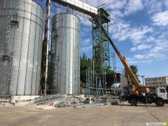 Возведение навеса на зерновом терминале