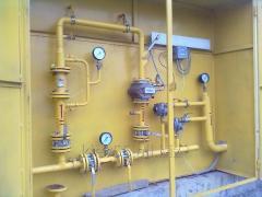 Обслуживание узлов учета газа предприятий