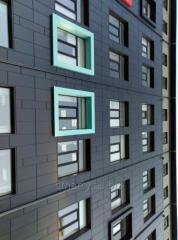 Montering av fasaden som ventileras