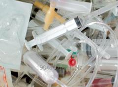 Відходи, які виникають в результаті медичного огляду (шприци, системи, бинти та ін)