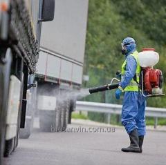 Disinfection of transport