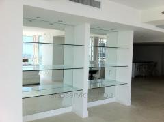 Изготовление большие зеркала, зеркальное полотно Днепр