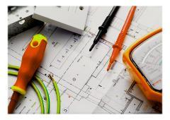 Services de conception et de construction, services technologiques dans l'électrotechnique