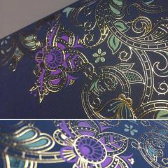 Объемное тиснение фольгой Silk Foil : золото, серебро, голография