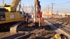 Trabalhos de escavação, arranjo das escavações e depósitos de água