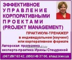 Авторский тренинг Ирины Стецуриной «Эффективное управление корпоративными проектами (Рroject management)»