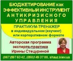 Авторский тренинг Ирины Стецуриной «Бюджетирование как эффективный инструмент антикризисного управления»