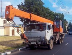 Услуги автокранов. Аренда крана от 10 до 30 тонн