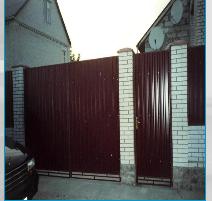 Монтаж металлопрофильных ворот