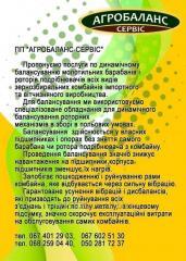 Балансування подрібнювачів комбайнів ПП