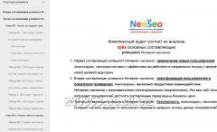 Услуга комплексного аудита сайта интернет-магазина - NeoSeo