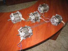 Electric motors with the distributed winding like