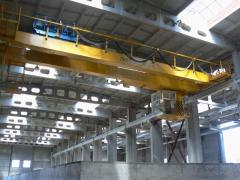 Mounting trolley current lead to supply crane