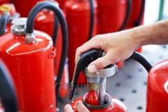 Техническое обслуживание первичных средств пожаротушения