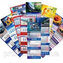Печать календарей от одного экземпляра