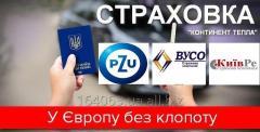 Страховка для Европы  (VUSO , PZU , Киев Ре) за 1 день. Бесплатная доставка