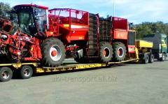 Перевозка сельскохозяйственной техники, комбайнов, тракторов
