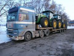 Перевозка сельскохозяйственной техники по Украине