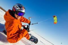 Сноукайтинг (зимний кайтинг) обучение