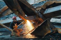 Демонтаж металлоконструкций, порезка металлолома.