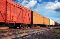 Rail transportation of cargoes