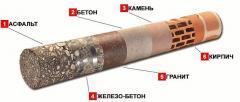 Алмазное бурение (алмазное сверление) отверстий в строительном материале (бетон, железобетон, кирпич, камень и др. )