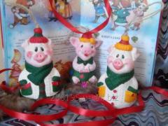 Новогодняя игрушка Поросенок Фунтик