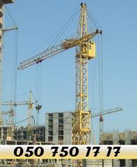 Башенный кран КБ-308 услуги, аренда