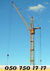 Монтаж, демонтаж, ремонт башенного крана