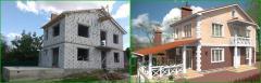 Дизайн фасада (экстерьера) с визуализацией и