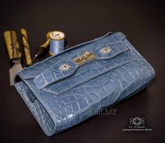 Женский клатч из кожи крокодила. Handmade