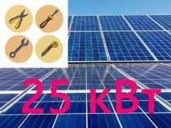 Сетевая солнечная электростанция 25 кВт