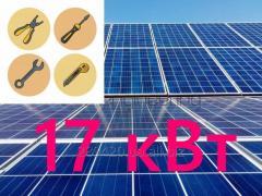 Сетевая солнечная электростанция 17 кВт