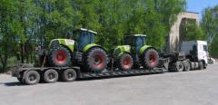 Услуги трала, перевозки негабаритных грузов