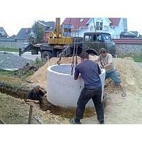 Установка колодцев канализационных